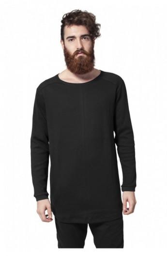 Bluze cu maneca lunga waffle negru 2XL