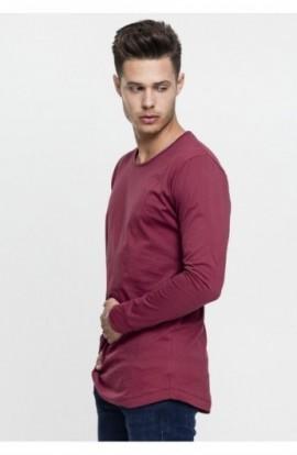 Bluze fashion cu maneca lunga rosu burgundy 2XL