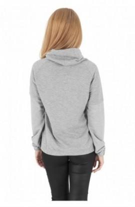 Bluza cu guler inalt femei gri XL