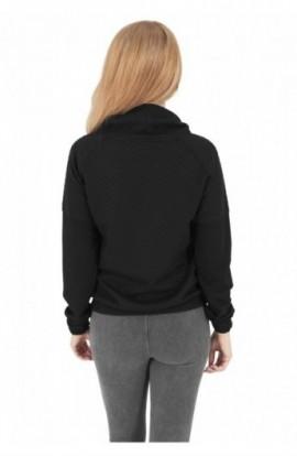 Bluza cu guler inalt femei negru XS