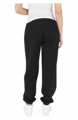 Pantaloni jogging cu aspect matlasat negru L