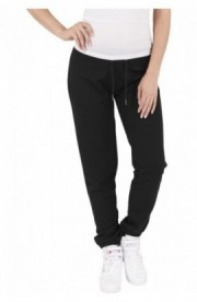 Pantaloni jogging cu aspect matlasat negru S