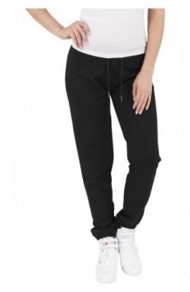 Pantaloni jogging cu aspect matlasat negru XS