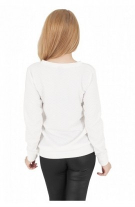 Bluze de dama cu model alb murdar M