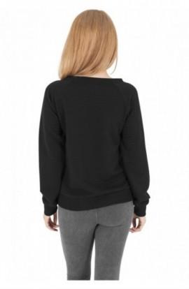 Bluze sport dama stripe negru L