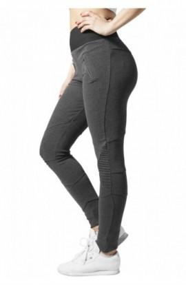 Colanti cu talie inalta gri carbune-negru XL