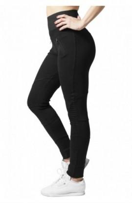Colanti cu talie inalta negru-negru XL