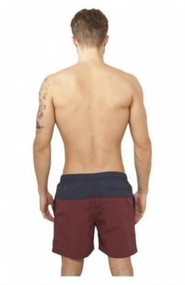 Pantaloni scurti inot bleumarin-rosu burgundy XS