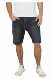 Pantaloni denim scurti albastru-stoned 36