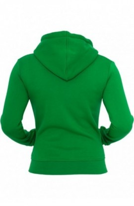 Hanorace urban simple cu fermoar verde XL