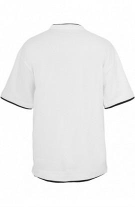 Tricouri largi hip hop alb-negru 4XL