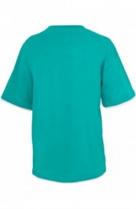 Tricouri largi hip hop albastru aqua-alb XL