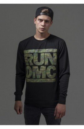 RUN DMC Camo Crewneck negru S