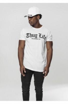 Thug Life Old English Tee alb L
