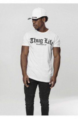 Thug Life Old English Tee alb M