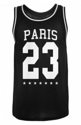 Maiou cu mesaj plasa Paris negru M