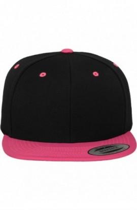 Flexfit Snapback negru-roz neon