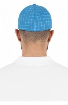 Flexfit Square Check Cap turcoaz-alb S-M