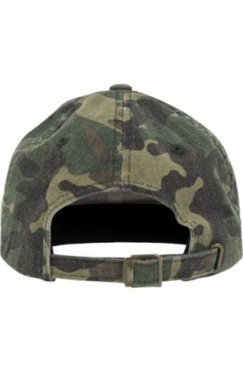 Low Profile Camo Washed Cap wood-camuflaj
