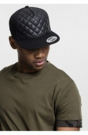 Diamond Quilted Snapback negru