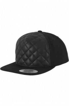Diamond Quilted Snapback negru