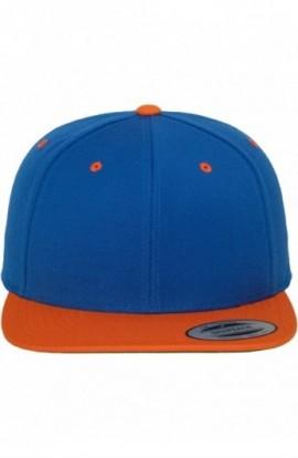 Classic Snapback 2-Tone albastru roial-portocaliu