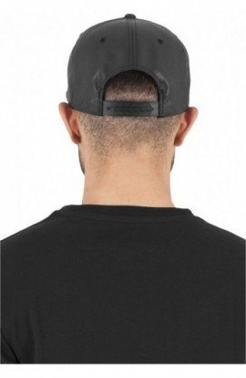 Full Leather Imitation Snapback negru-negru
