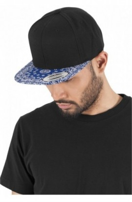 Bandana Snapback negru-albastru