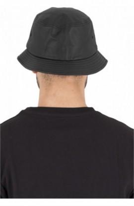 Full Leather Imitation Bucket Hat negru