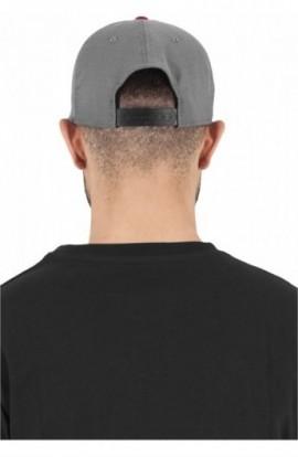 Heringbone 110 Snapback gri-rosu