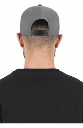 Heringbone 110 Snapback gri-negru