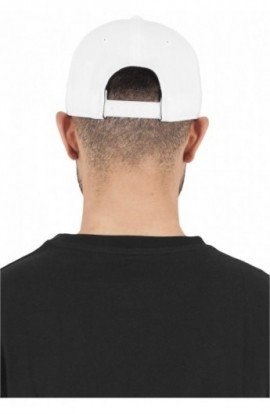 110 Fitted Snapback alb