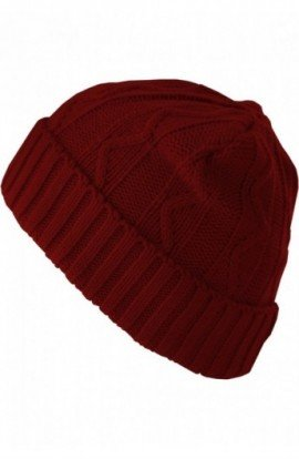 Beanie Cable Flap maro inchis