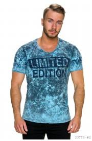 Tricou Limited Edition blau , S