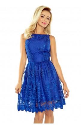 Rochie blau brodata