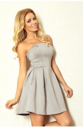 Rochie babydoll, model corset , culoare gri