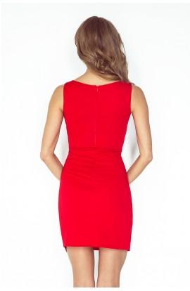 Rochie asimetrica,de culoare rosie
