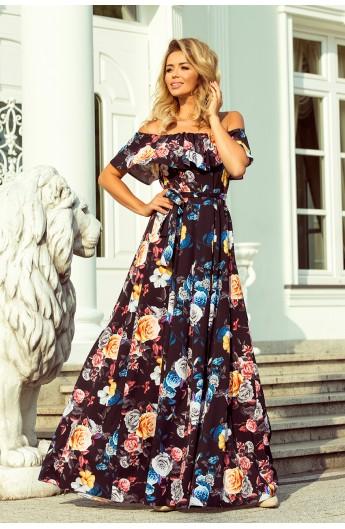 Rochie lunga, Spaniola cu imprimeu floral