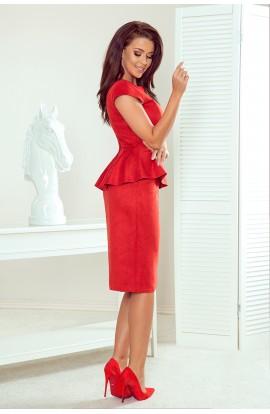 Rochie rosie elegantă midi