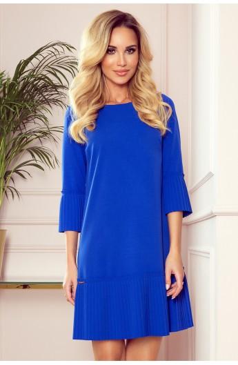 Rochie albastra plisată confortabilă