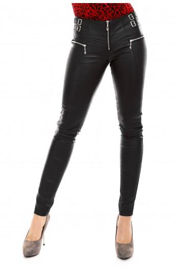 Pantaloni Lungi din Piele Ecologica pentru Femei