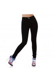 Pantalon negru simplu , subtire , tip blug
