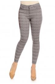 Pantaloni Slim Fit in Carouri pentru Femei