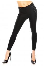 Pantalon Lungi cu Siret Impletit pe Solduri