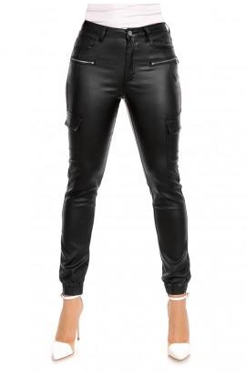 Pantaloni Cargo Dama din piele ecologica