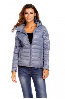 Jacheta matlasata cu gluga pentru femei