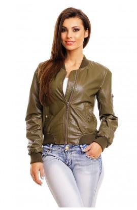 Jacheta bomber din piele ecologica pentru femei